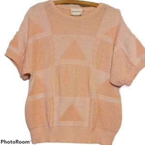 LeFOLIO Vintage Sweater - Pink Knitted Triangle